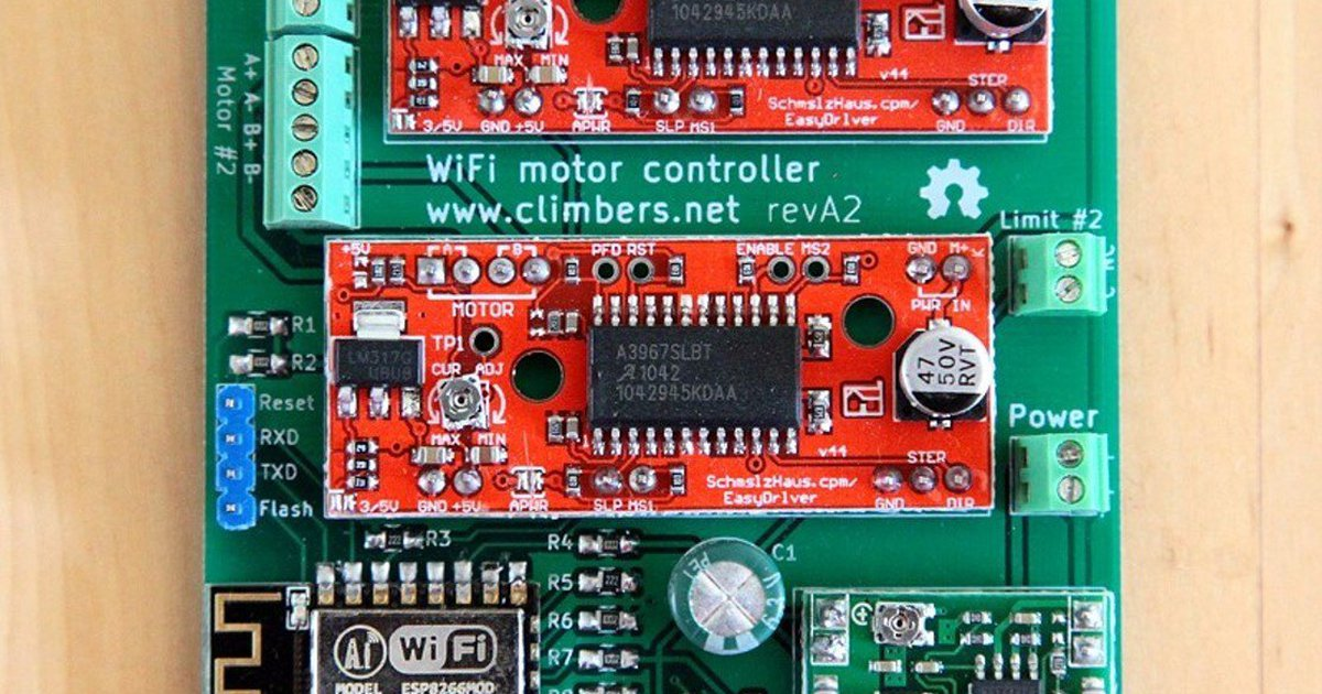 wifi controlled stepper motors with esp8266 from climbers