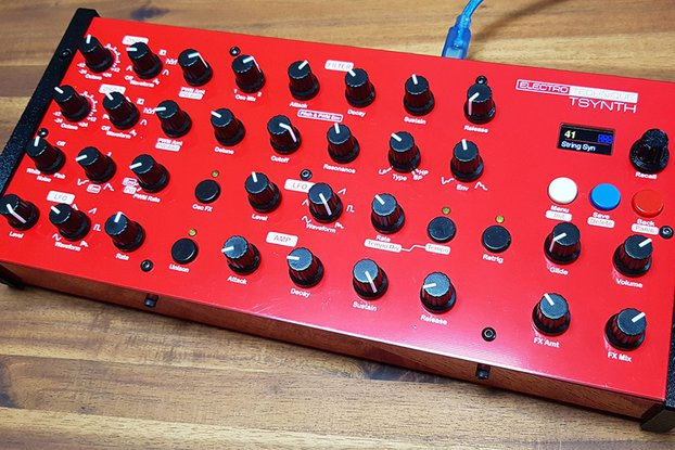 TSynth - Teensy based DIY Programmable Poly Synth
