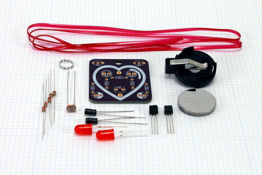 Heart: Wearable Blinky-Board Soldering Skills Kit 2