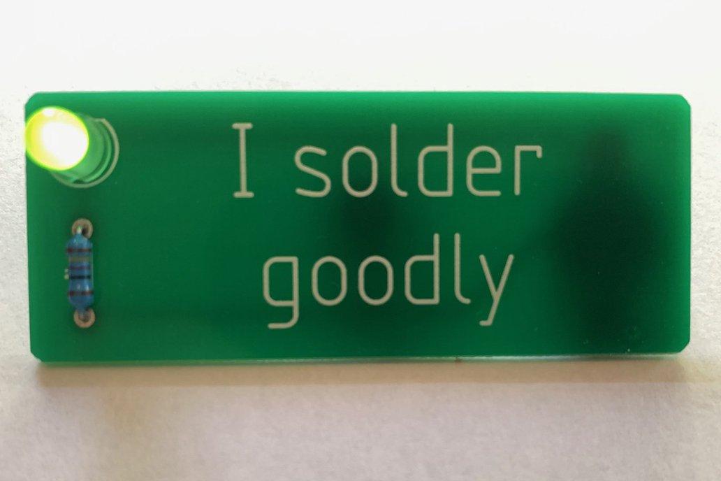 """""""I solder goodly"""" Badge 1"""