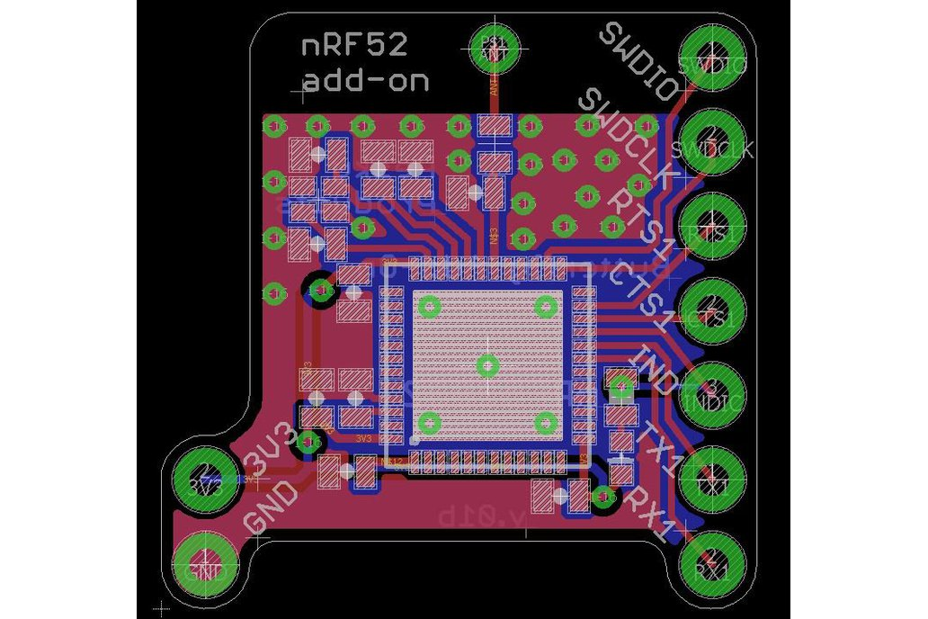 nRF52 add-on for Butterfly and Teensy 2