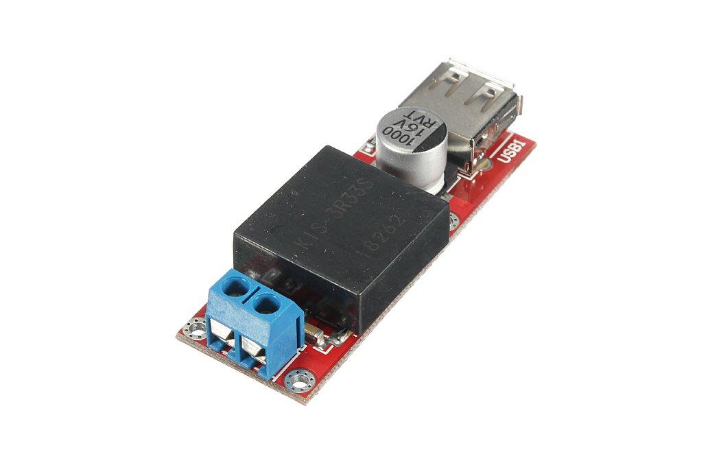 DC 7V-24V To DC 5V 3A USB Output Converter Step Down Module KIS3R33S 2