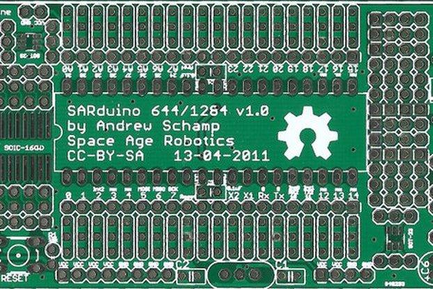 SARduino644 v1.0 PCB