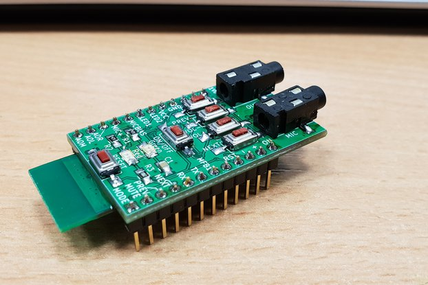 Breadboard adapter for SX3868 bluetooth module