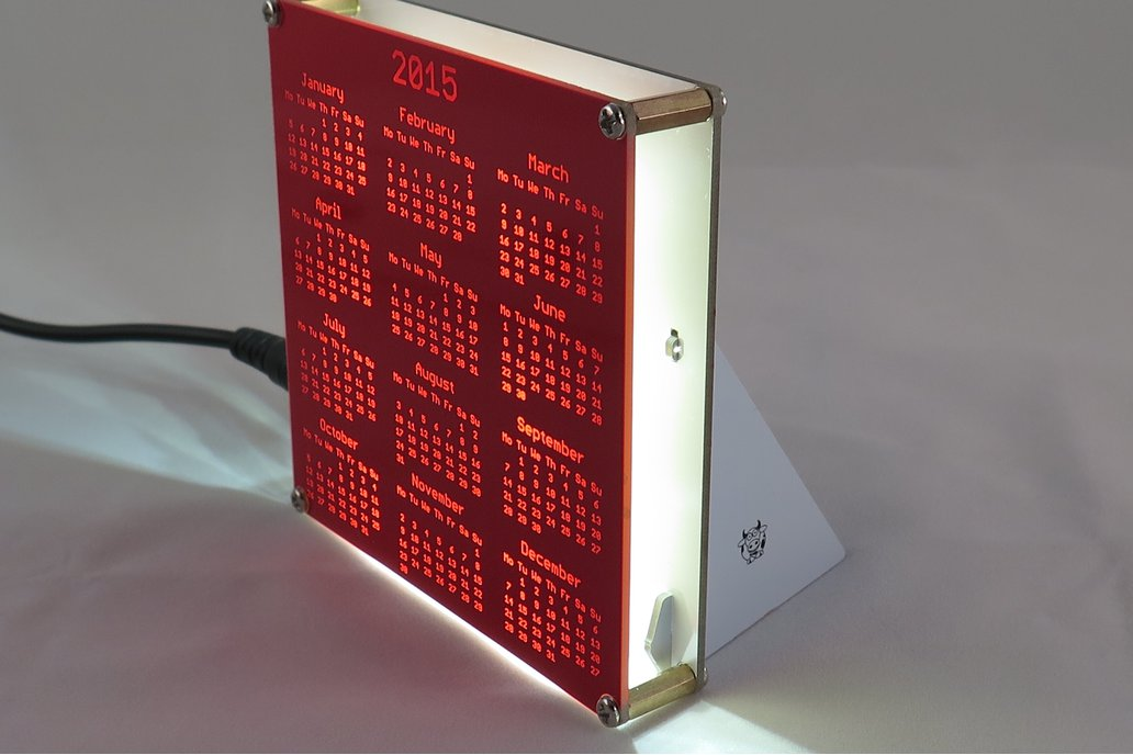 Backlight Stand for PCB Calendar 1