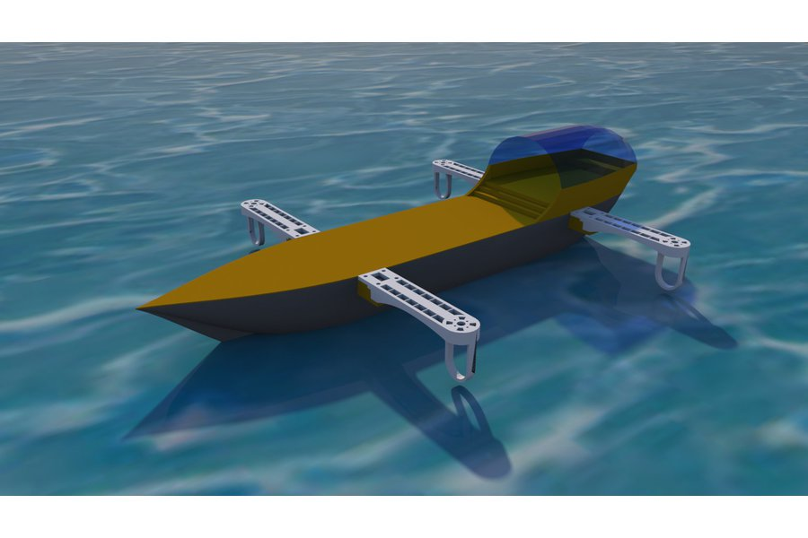 Flying Ship Robotics Platform (Hull and arms Only)