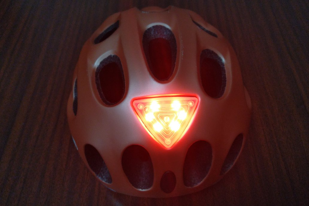 Rechargeable LED bicycle helmet light ACY 1