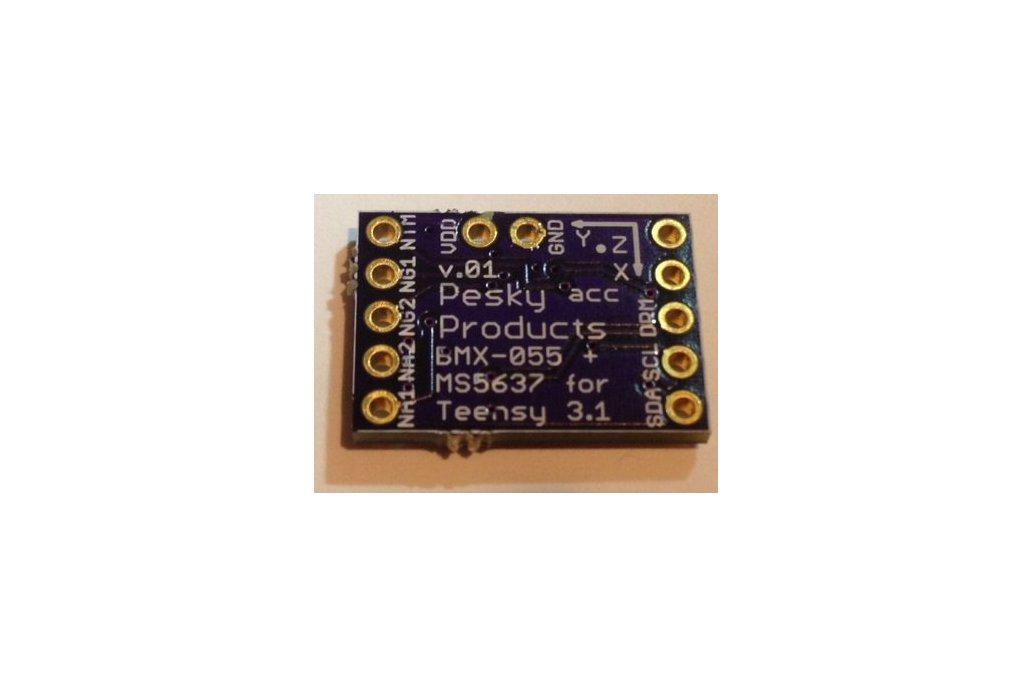 BMX-055 9-axis motion sensor add-on for Teensy 3.1 2
