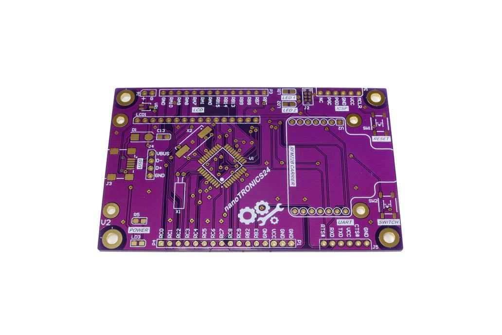 nanoTRONICS24 –  Wireless PIC24 Dev Board PCB - RF 1