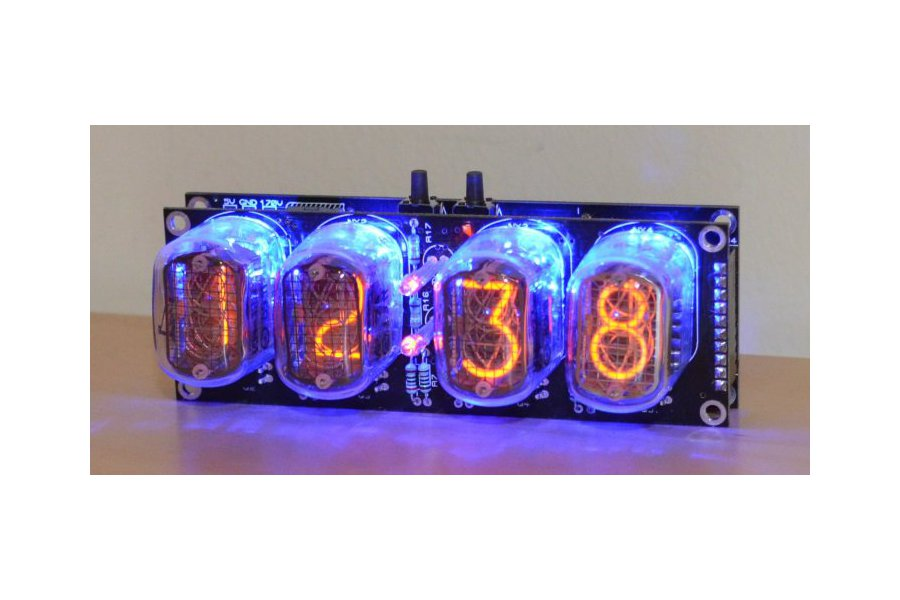 Nixie Tube Clock Kit with IN-12 Tubes