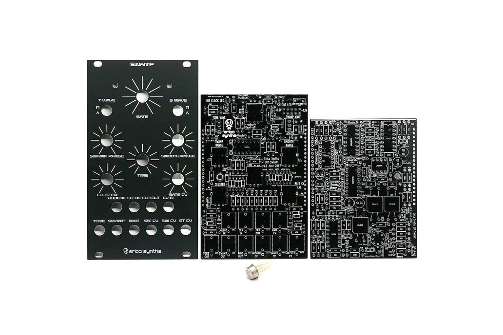 Erica Synths Swamp PCBs, Panel and 1100CK2 IC 1