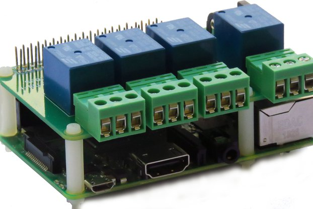 4-RELAYS Heavy Duty Stackable Card for Raspberry P