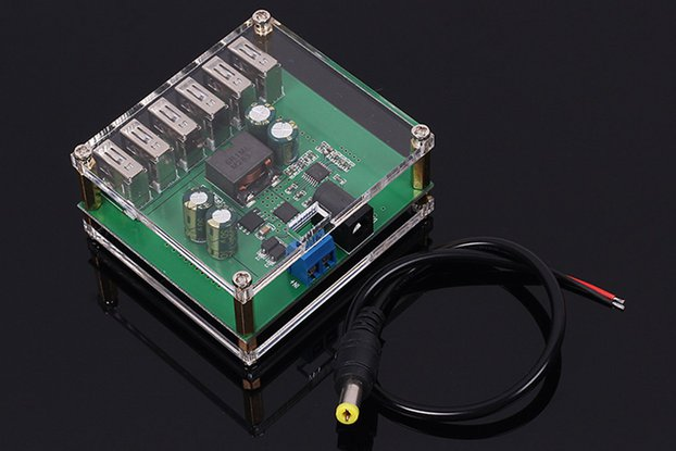 6 USB 5V/8A Step Down Buck Converter Module (13290