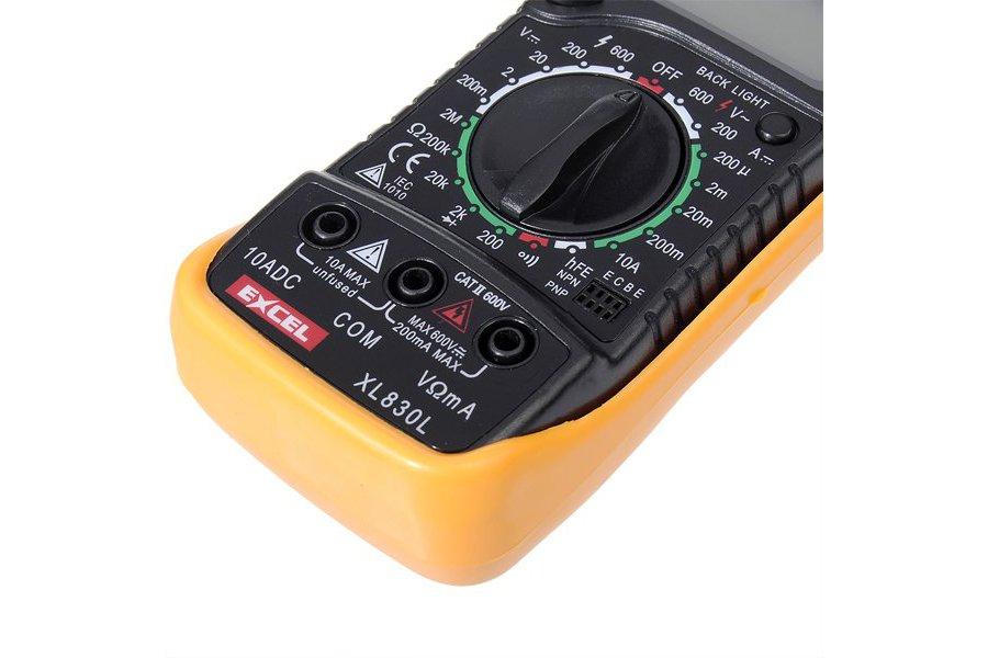LCD Digital Voltmeter Ohmmeter Ammeter Tester