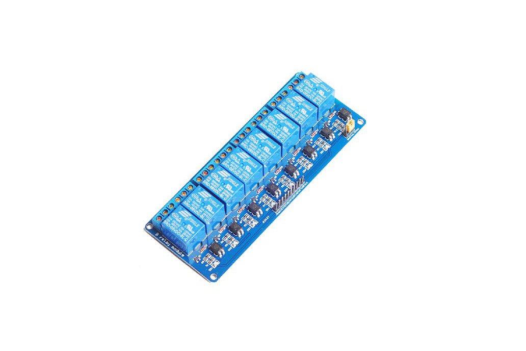 Optocoupler 8 path relay panel 5v/12v/24v 1