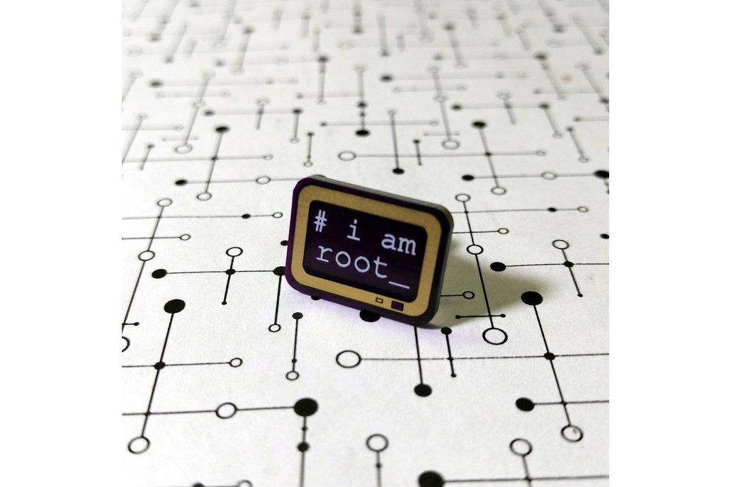 i am root PCB Lapel Pin 1