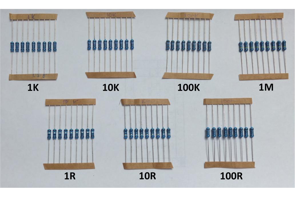 Decade Resistance – DIY 7 Decade Resistor Set 1