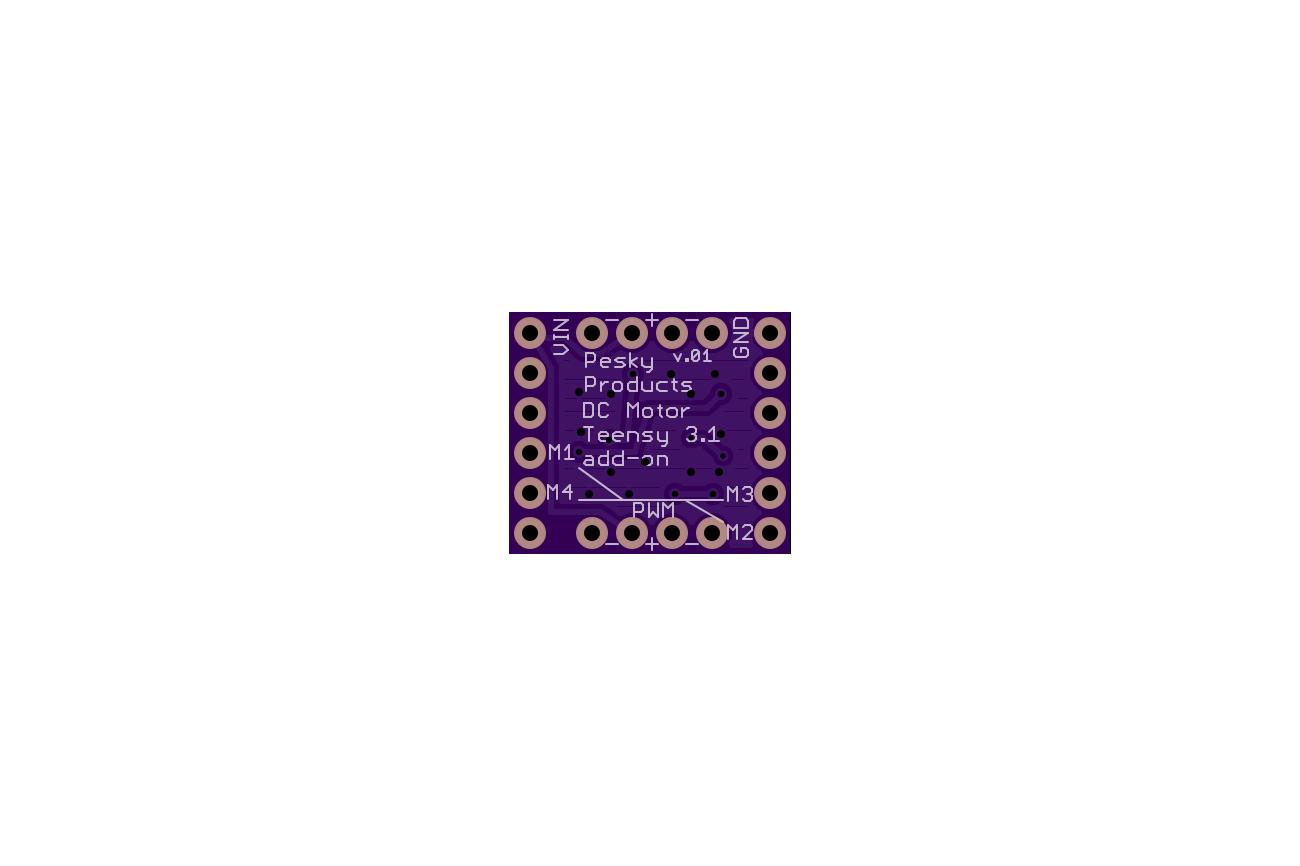 DC Motor Controller Board for Teensy 3.1
