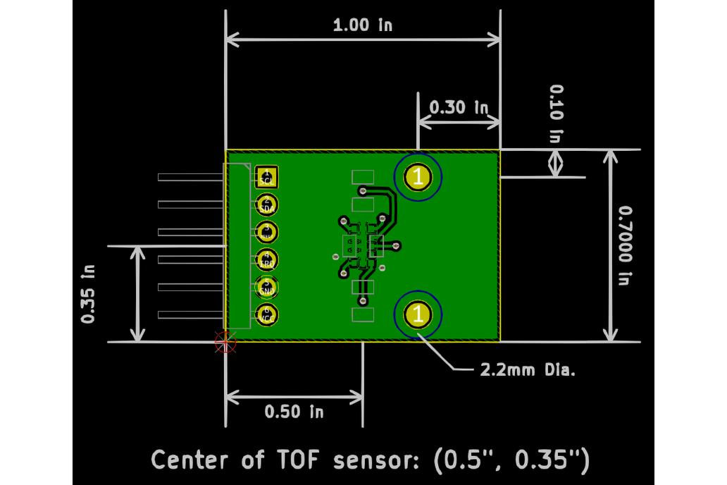 Laser Distance Sensor, PMOD Compatibile 3