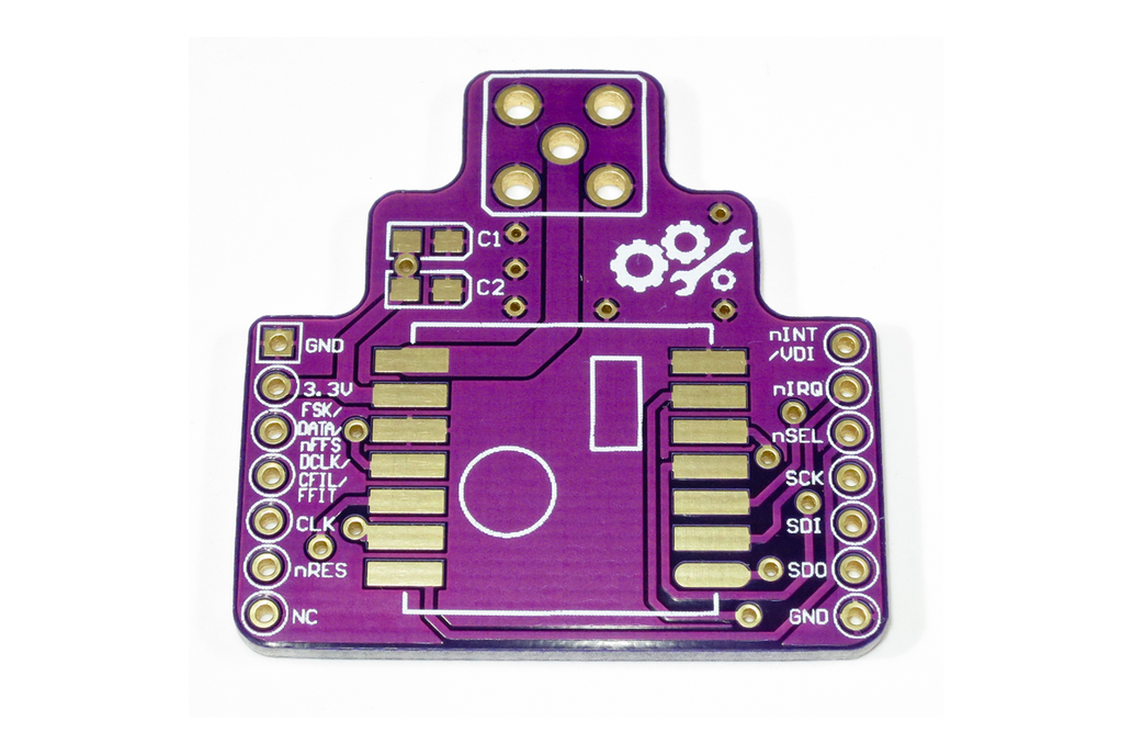 Wireless Breakout Board RFM12B PCB – ISM Band RF 1