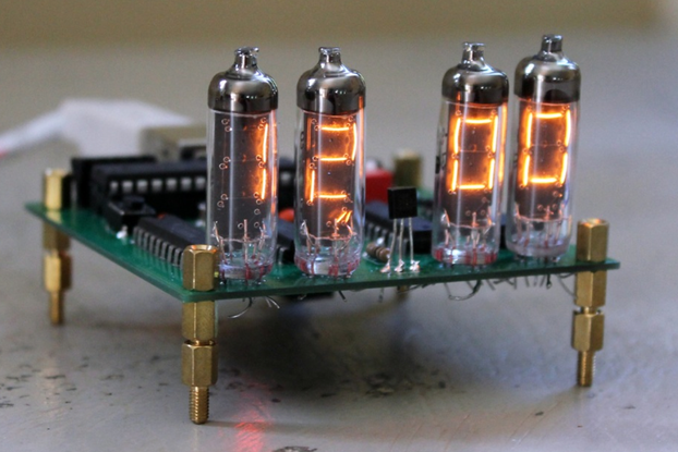 IV - 9 Numitron Tube Clock