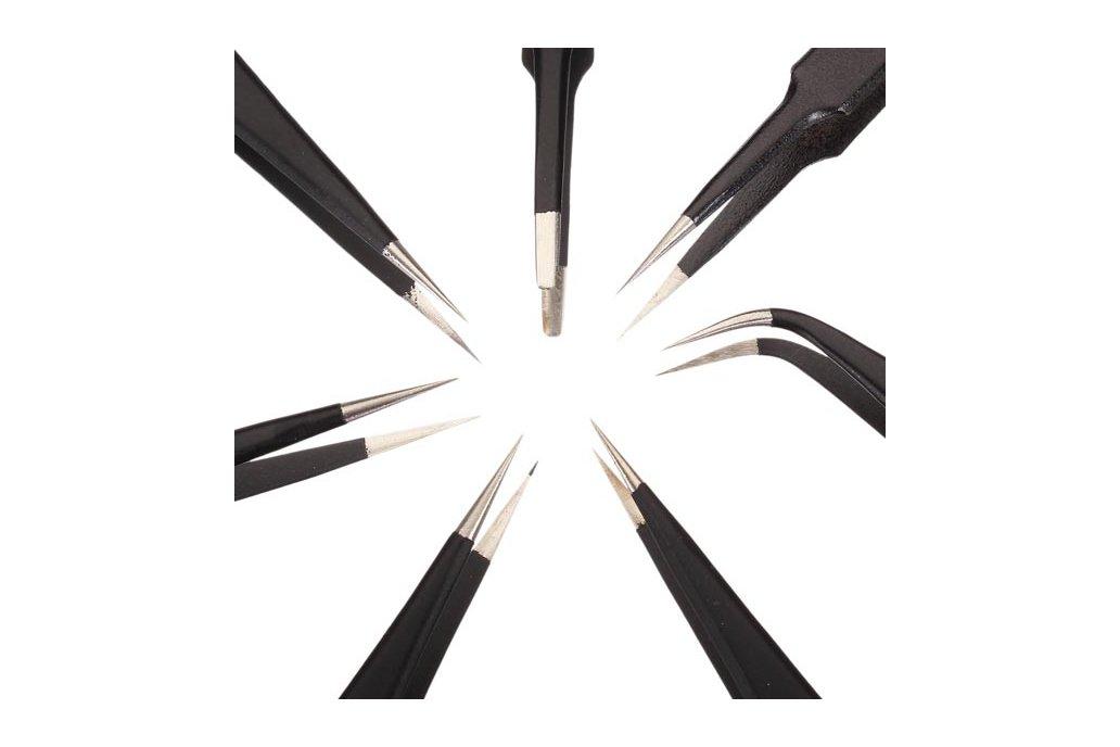 7pcs BGA Precision Tweezer Set Antistatic Tweezers 2