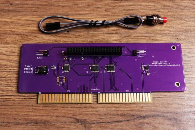 Purple HDMI AMIGA 2000 3000 for Raspberry Pi Zero