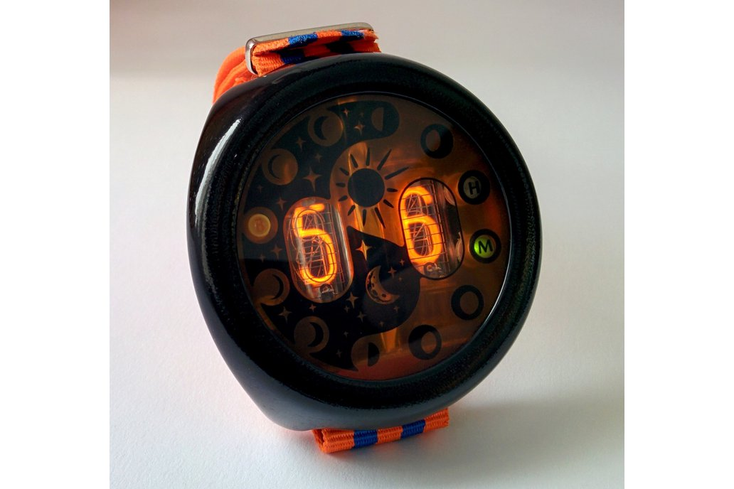 "Nixie Tube Watch ""MOONWATCHER"" 1"