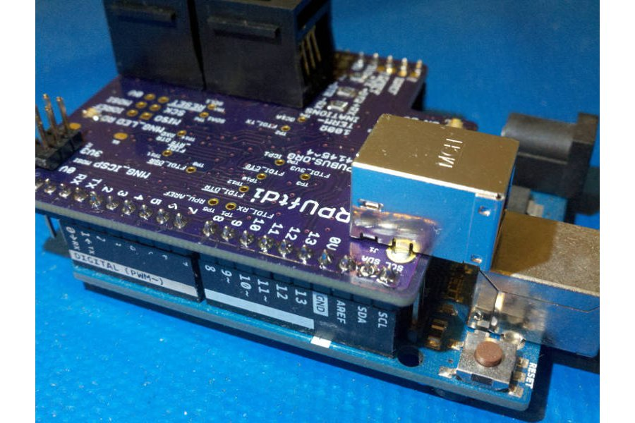 RPUftid - a shield for USB to RS-422 over CAT5
