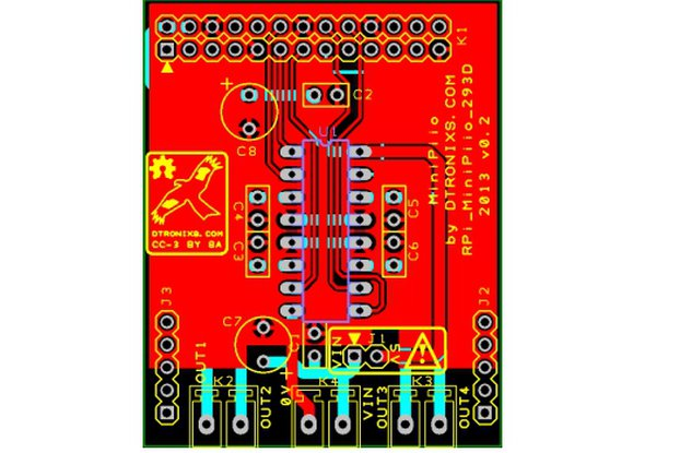 Raspberry PIIO - Motor293D board (PCB only)