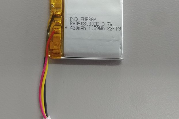 LiIon battery, 430mAh, 3.7v