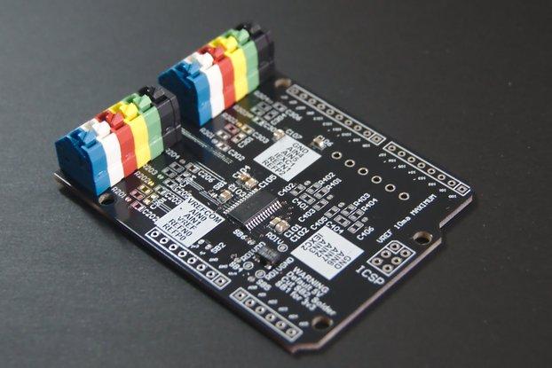 Precision ADC ADS1248 Arduino Shield (strain gage)