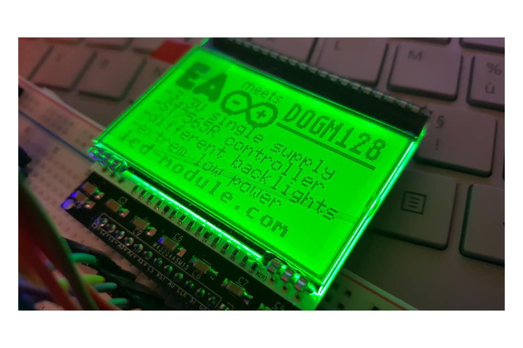 AE DOGM-128 Display holder, breadboard compatible 3
