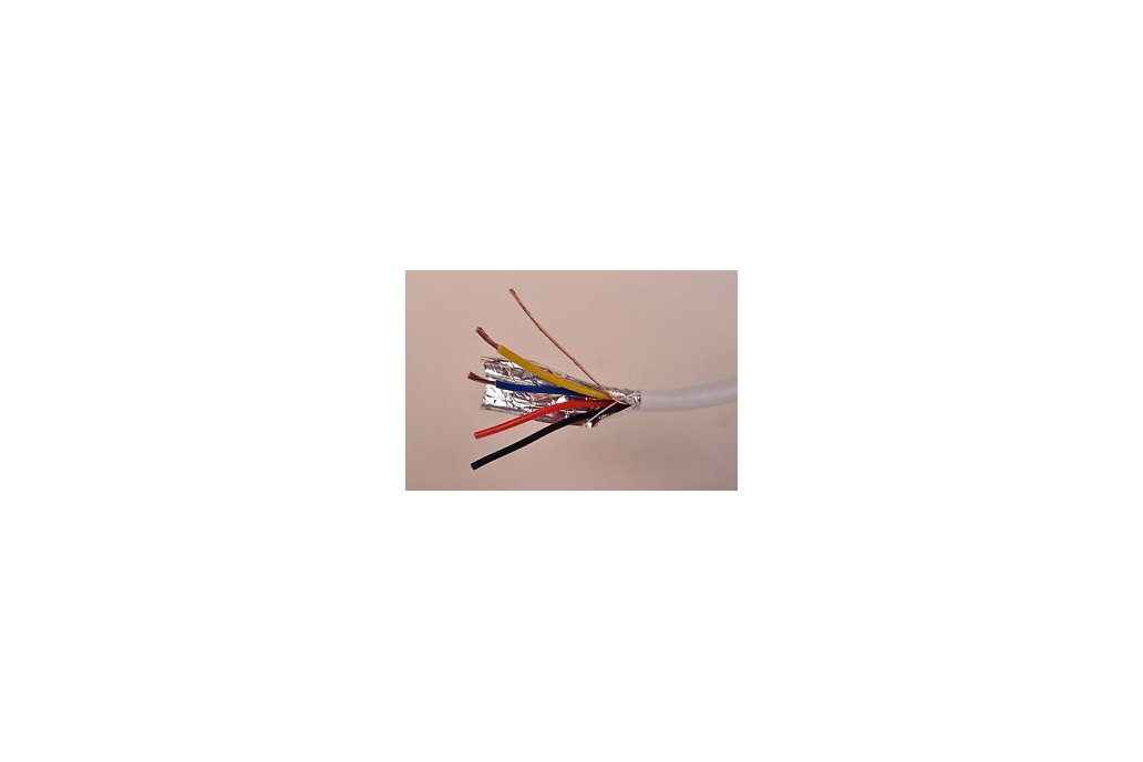 18/4 wire - 25 ft - stranded, shielded 1