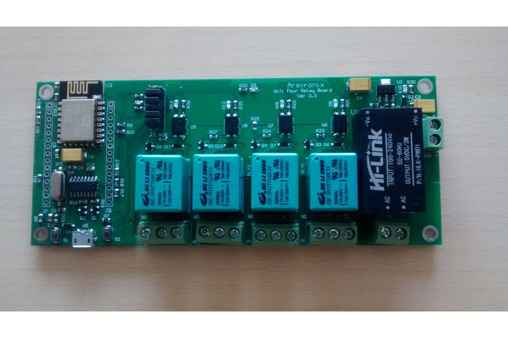 Node MCU ESP8266 WIFI board 4 Relay iot with case 4