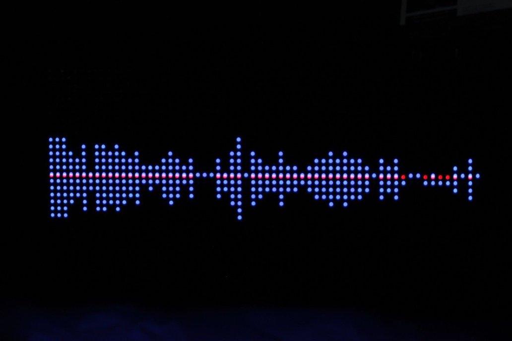32*64 RGB LED Display Music Spectrum and Clock 3