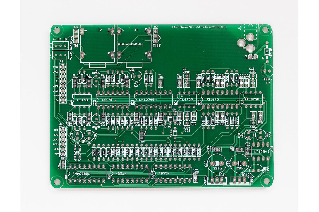 Shruthi 4-Pole Mission Filter PCB 1