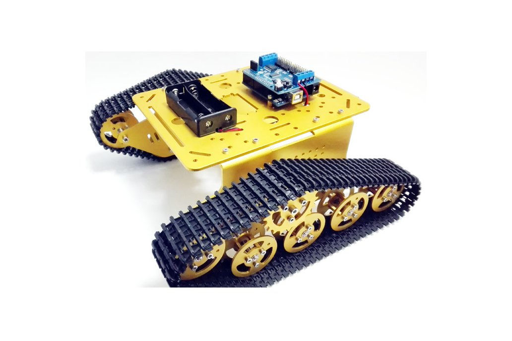 Wireless WiFi metal tank car chassis with arduino 5