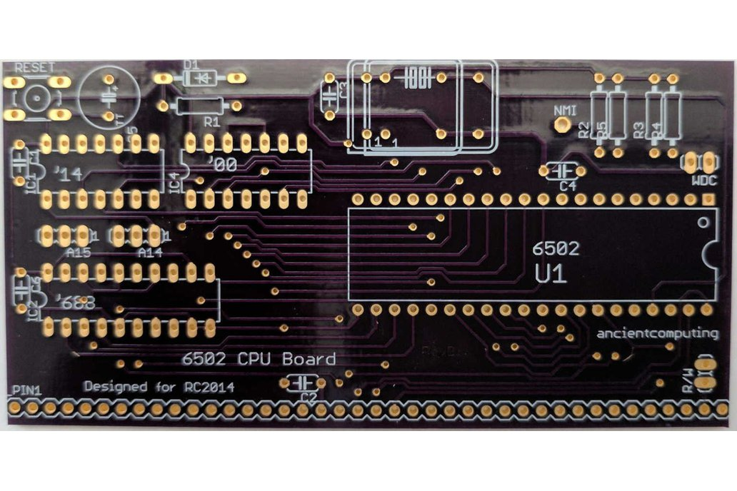 6502 CPU Board for RC2014 from ancientcomputing on Tindie