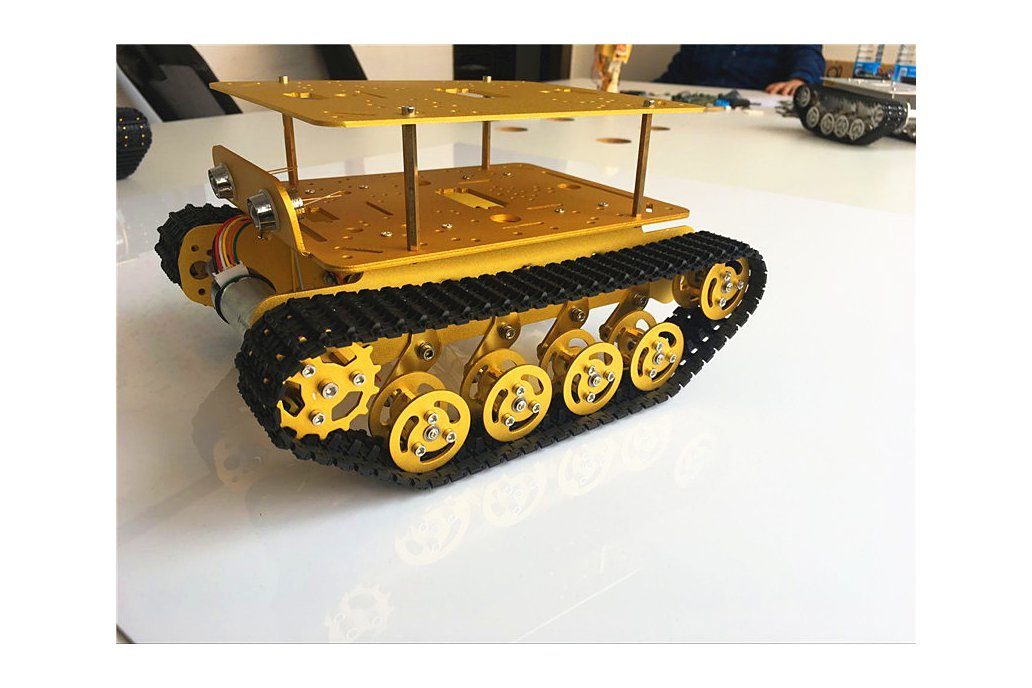 Double Panel Metal Shock Absorption Robot Tank Car 7
