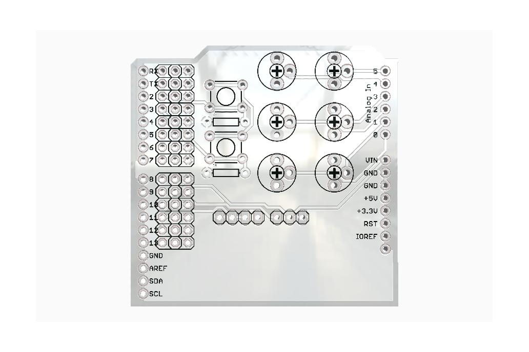 Servo and Potentiometer Arduino Shield 1
