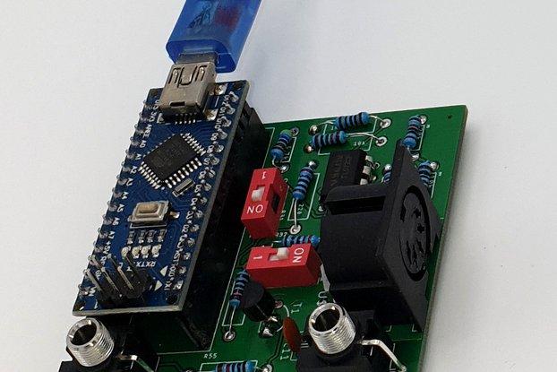 Eurorack CV to MIDI converter