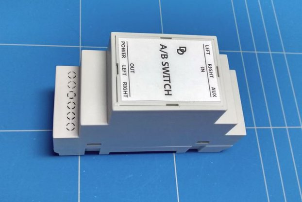 Auto A/B audio switch on DIN rail