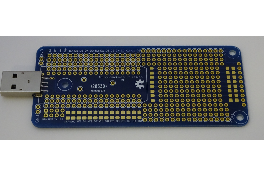 Prototype PCB for the Particle Electron.