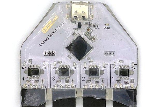 4 ports Isolated USB - UART Converter with USB-C
