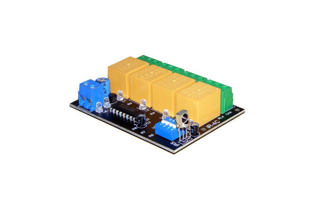 4 channel infrared ir remote control relay board 1