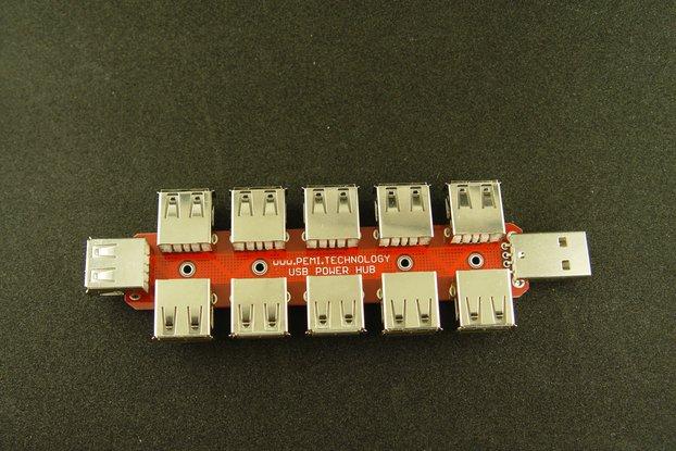 USB power only HUB 10+1