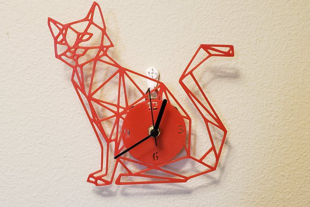 3D printed Cat clock