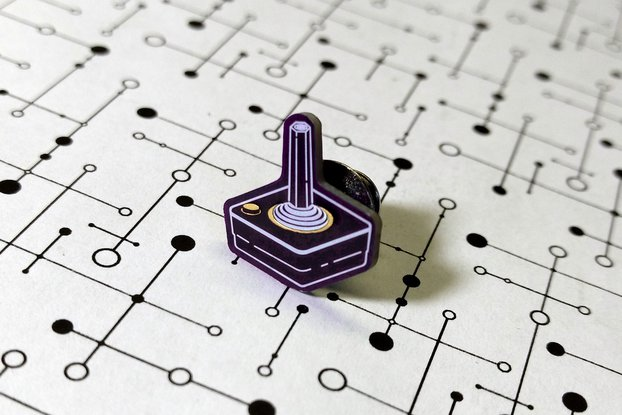 Atari CX40 Joystick PCB Lapel Pin
