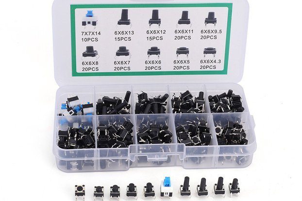 10 Values 6*6mm Tact Switch Kit (GY18608)